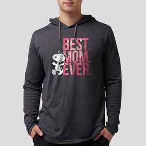 Snoopy -Best Mom Ever Mens Hooded Shirt