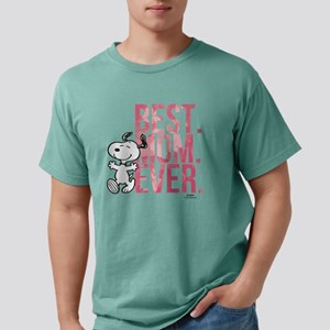Snoopy -Best Mom Ever Mens Comfort Colors Shirt
