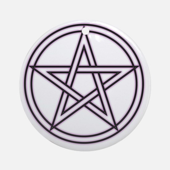Purple Pentacle Round Ornament