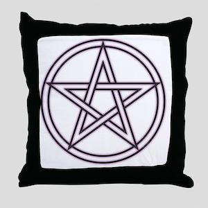 Purple Pentacle Throw Pillow