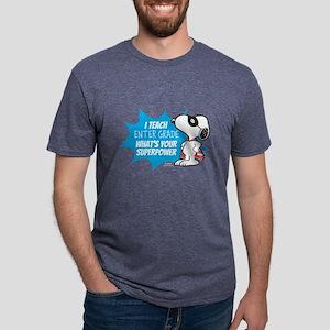 Snoopy - Teacher Mens Tri-blend T-Shirt