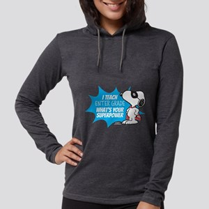 Snoopy - Teacher Womens Hooded Shirt