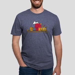 Peanuts - Be Thankful Mens Tri-blend T-Shirt
