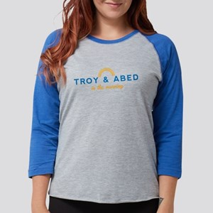 Troy & Abed in the Morning Womens Baseball Tee