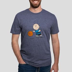Basketballer Brown Mens Tri-blend T-Shirt