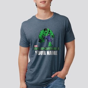 Personalized Incredible Hul Mens Tri-blend T-Shirt