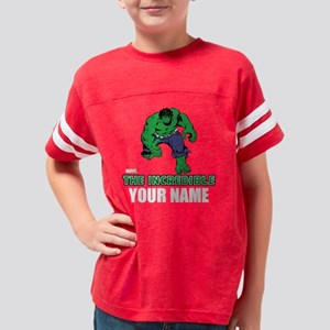 Personalized Incredible Hulk Youth Football Shirt