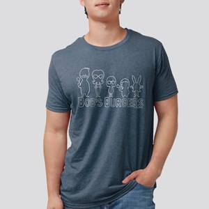 Bob's Burgers Family Outlin Mens Tri-blend T-Shirt