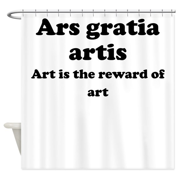 ars gratia artis shower curtain by latinsayings. Black Bedroom Furniture Sets. Home Design Ideas