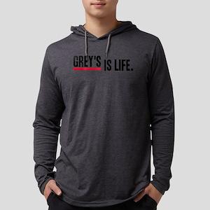 Greys Anatomy Greys Is Life Blac Mens Hooded Shirt