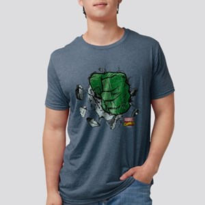 Hulk Fist Dark Mens Tri-blend T-Shirt