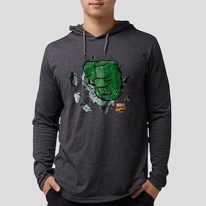 Hulk Fist Dark Mens Hooded Shirt