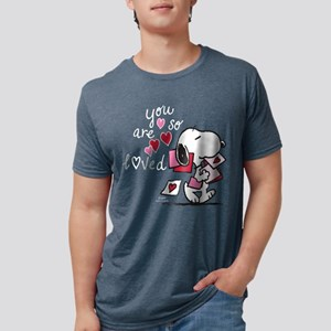 Snoopy - You Are So Loved Mens Tri-blend T-Shirt