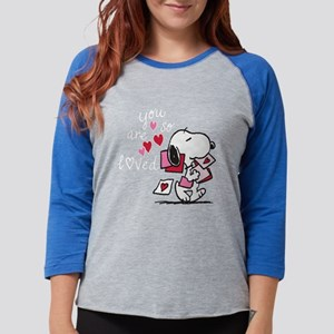 Snoopy - You Are So Loved Womens Baseball Tee