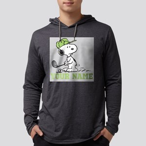 Snoopy Golf Personalized Mens Hooded Shirt