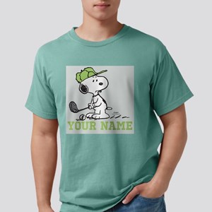 Snoopy Golf Personalized Mens Comfort Colors Shirt