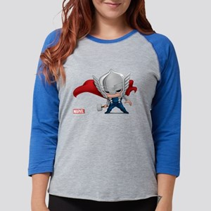 Chibi Thor Womens Baseball Tee