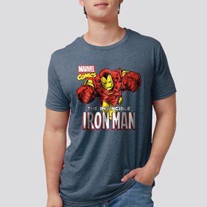 Retro Iron Man Mens Tri-blend T-Shirt
