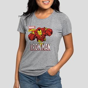 Retro Iron Man Womens Tri-blend T-Shirt