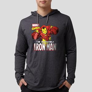 Retro Iron Man Mens Hooded Shirt