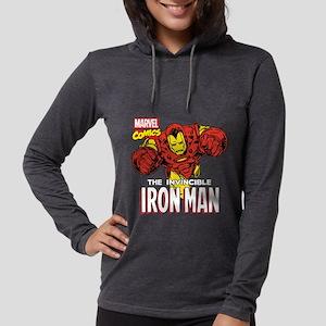Retro Iron Man Womens Hooded Shirt