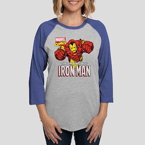 Retro Iron Man Womens Baseball Tee
