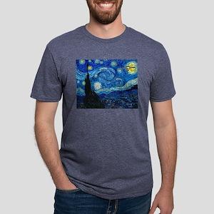 van-gogh-starry-trekkie-nig Mens Tri-blend T-Shirt