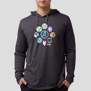AvengersIcons dark Mens Hooded Shirt