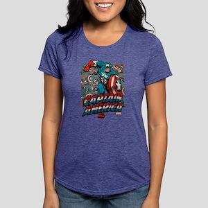 Captain America Classic 3 Womens Tri-blend T-Shirt