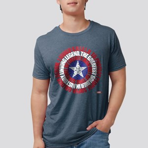 Captain America Word Shield Mens Tri-blend T-Shirt