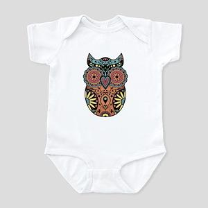 Sugar Skull Owl Color Infant Bodysuit