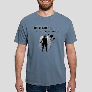 hero wears angel wings Mens Comfort Colors Shirt