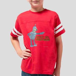 Bender Shut Up Meatbag Dark Youth Football Shirt