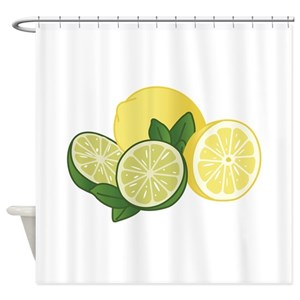 Lemon Lime Shower Curtains