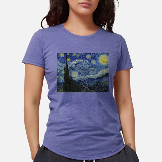 starry trek night Womens Tri-blend T-Shirt