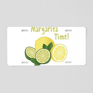 Margarita Time Aluminum License Plate