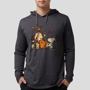 Fall Peanuts Mens Hooded Shirt
