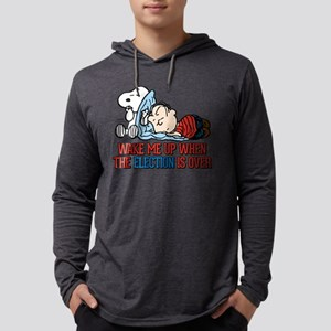 Snoopy and Linus - Wake me up wh Mens Hooded Shirt