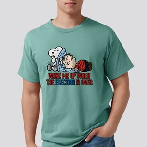 Snoopy and Linus - Wake  Mens Comfort Colors Shirt