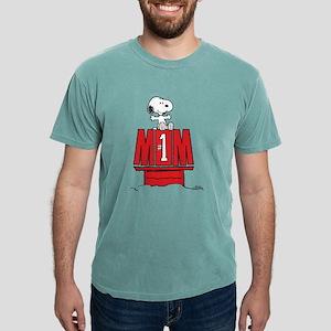 Snoopy - Mom #1 Mens Comfort Colors Shirt