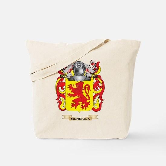 Mendiola Coat of Arms - Family Crest Tote Bag