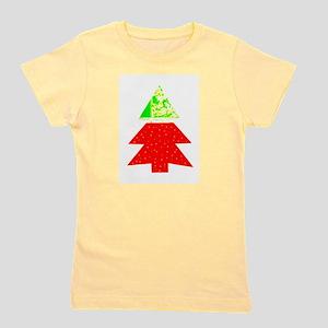 Red Green Christmas Two Tone Tree Designer Girl's