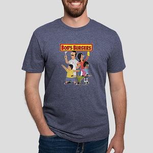 Bob's Burger Hero Family Da Mens Tri-blend T-Shirt