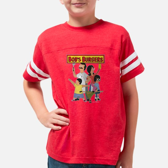 Bob's Burger Hero Family Dark Youth Football Shirt