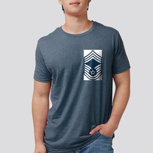 USAF-CMSgt-Blue Mens Tri-blend T-Shirt