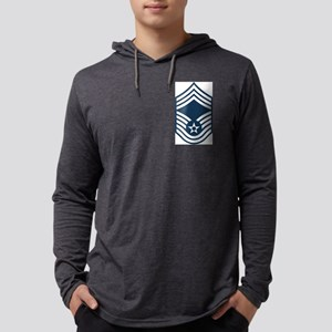 USAF-CMSgt-Blue Mens Hooded Shirt