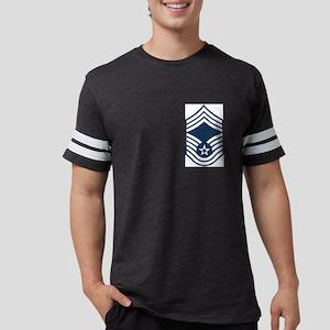 USAF-CMSgt-Blue Mens Football Shirt