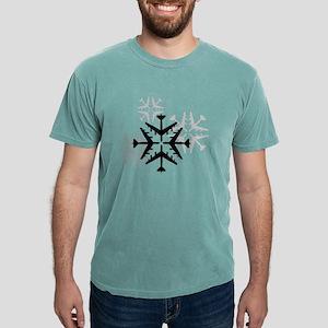 B-52 Aviation Snowflakes Mens Comfort Colors Shirt