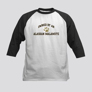 Alaskan Malamute: Owned Kids Baseball Jersey
