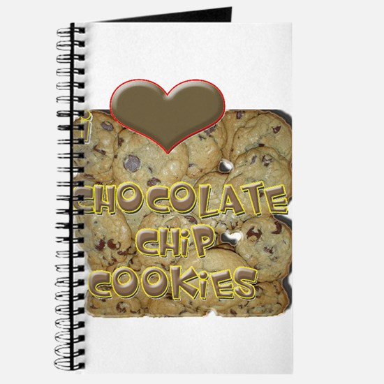 I Love Chocolate Chip Cookies Journal